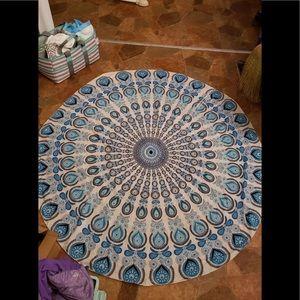 Blue Mandala Tapestry